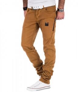 011 jean tendance homme marron cote 1