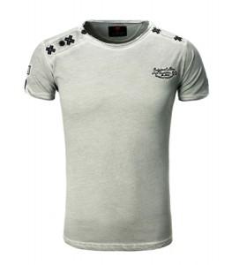 107 t-shirt tazzio fashion pour homme gris