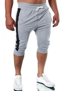 2611 bermuda jogging sport fashion homme gris clair avant