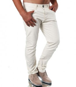 2773 pantalon chino homme beige avant
