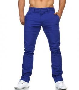 3354 pantalon chino fashion homme bleu roi avant