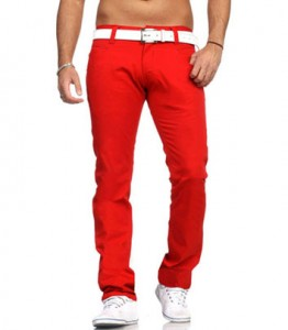 3354 pantalon chino fashion homme rouge avant