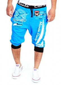 343 bermuda jogging fashion homme turquoise