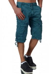 3512 bermuda cargo fashion pour homme bleu canard avant