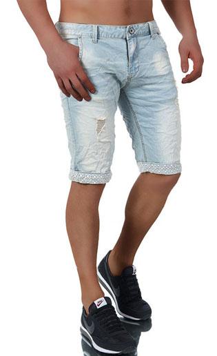 d6ead5dd1c444 ... 3640 short en jean fashion pour homme bleu avant