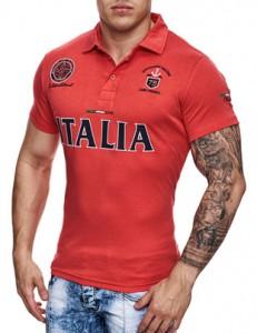 591 polo fashion pour homme italia rouge