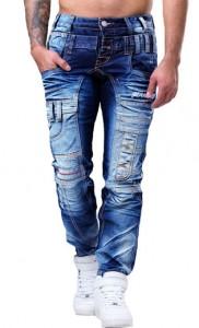 7028 jeans fashion homme branché bleu avant
