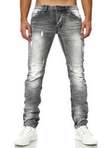 7150 jeans fashion homme coupe ajustée gris avant