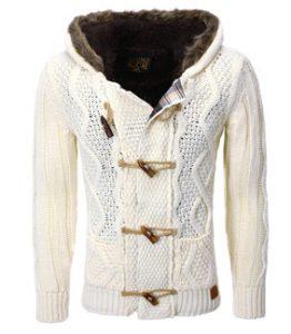 543 veste cardigan pour homme blanche
