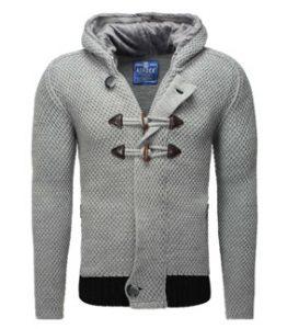 896 cardigan homme tendance duffle coat gris pour homme