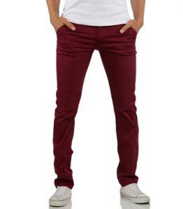 pantalon-chino-pour-homme-rouge-bordeaux-coupe-ajustee-face