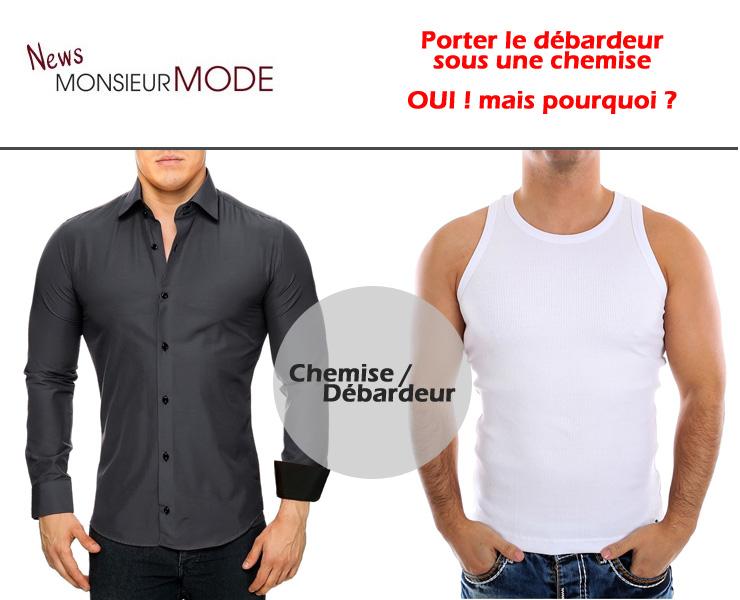 Porter le débardeur sous une chemise, pourquoi ? Mode Homme