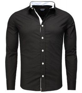 8332-chemise-tendance-slim-fir-pour-homme-noir