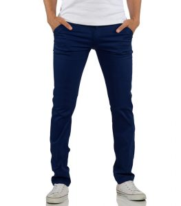 pantalon-chino-pour-homme-bleu-marine-coupe-ajustee-face