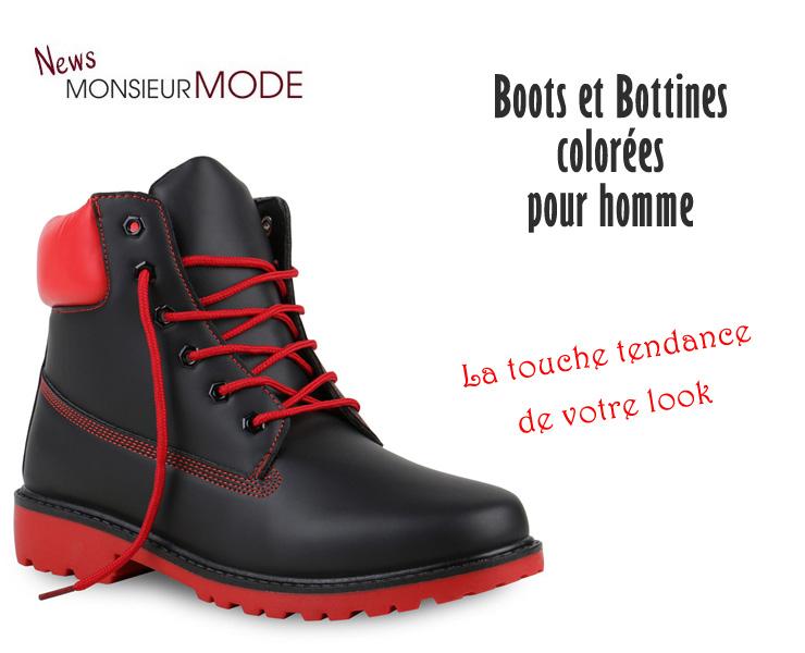 colorées Boots bottines mode pour Mode et Homme hommel'atout R4j3A5L