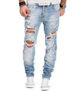 1262-jean-pour-homme-dechire-en-coupe-ajustee-bleu