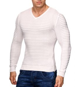 17019-pull-tendance-pour-homme-col-rond-blanc-face