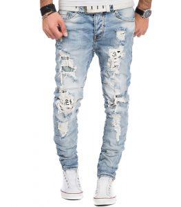 6903-jean-fashion-et-dechire-pour-homme-bleu-clair