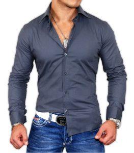 9000-chemise-coupe-ajustee-pour-homme-gris-fonce