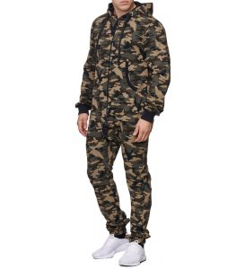 combinaison camouflage homme vert