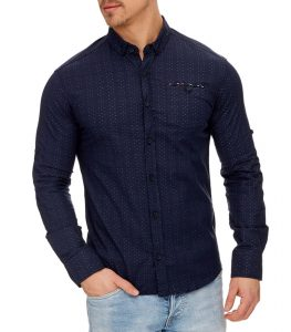 chemise mode élégante marine homme