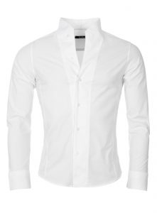 chemise homme col mao blanc