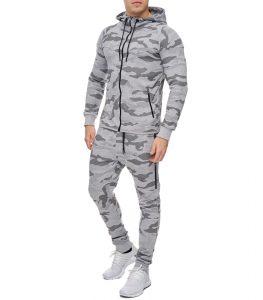 survêtement camouflage homme gris