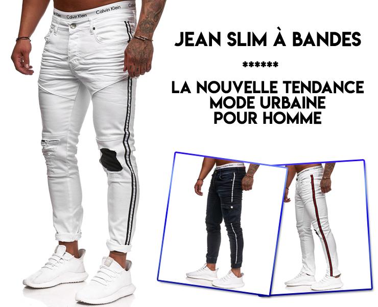 Slim Jean Pour À Nouvelle Homme BandesLa Mode k0O8nwP